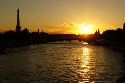 Parijs Eiffeltoren Zonsondergang