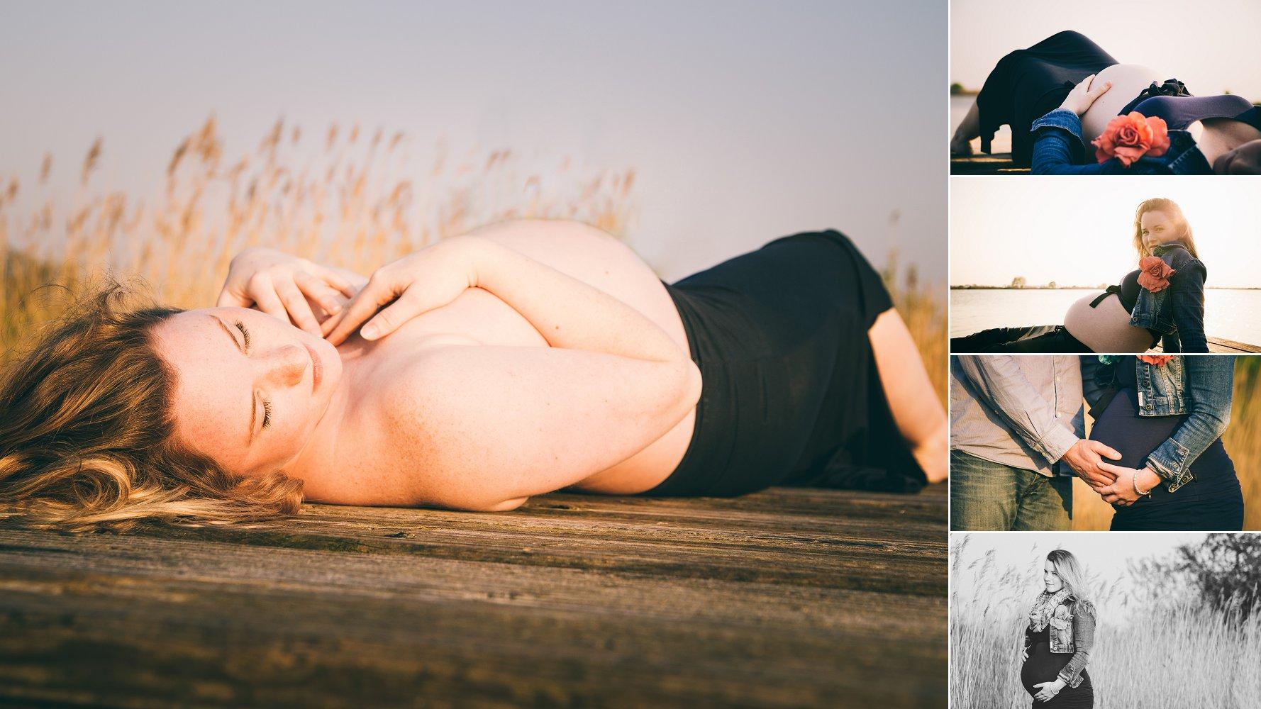 Zwangerschap buik fotografie buiten in veendam Groningen