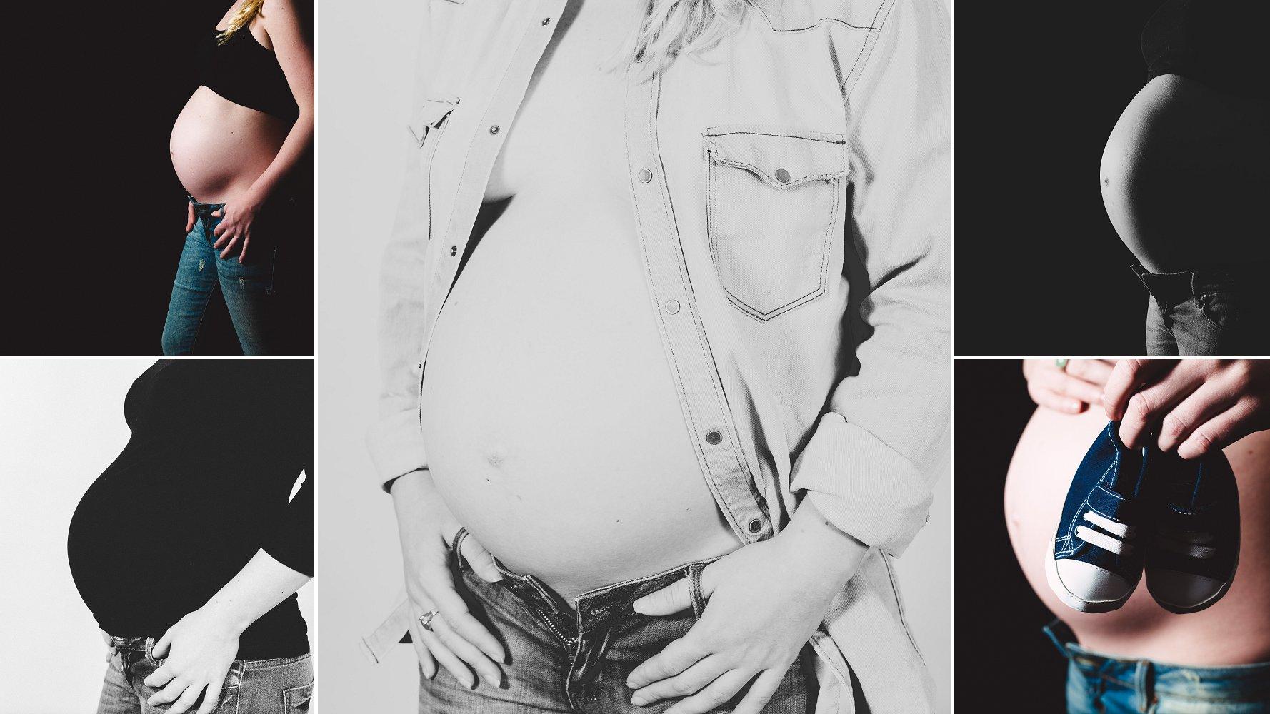 foto buik zwangerschap zwart wit veendam groningen