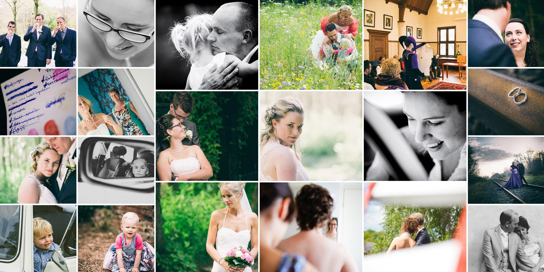 Niekfotografie bruiloft bedankt