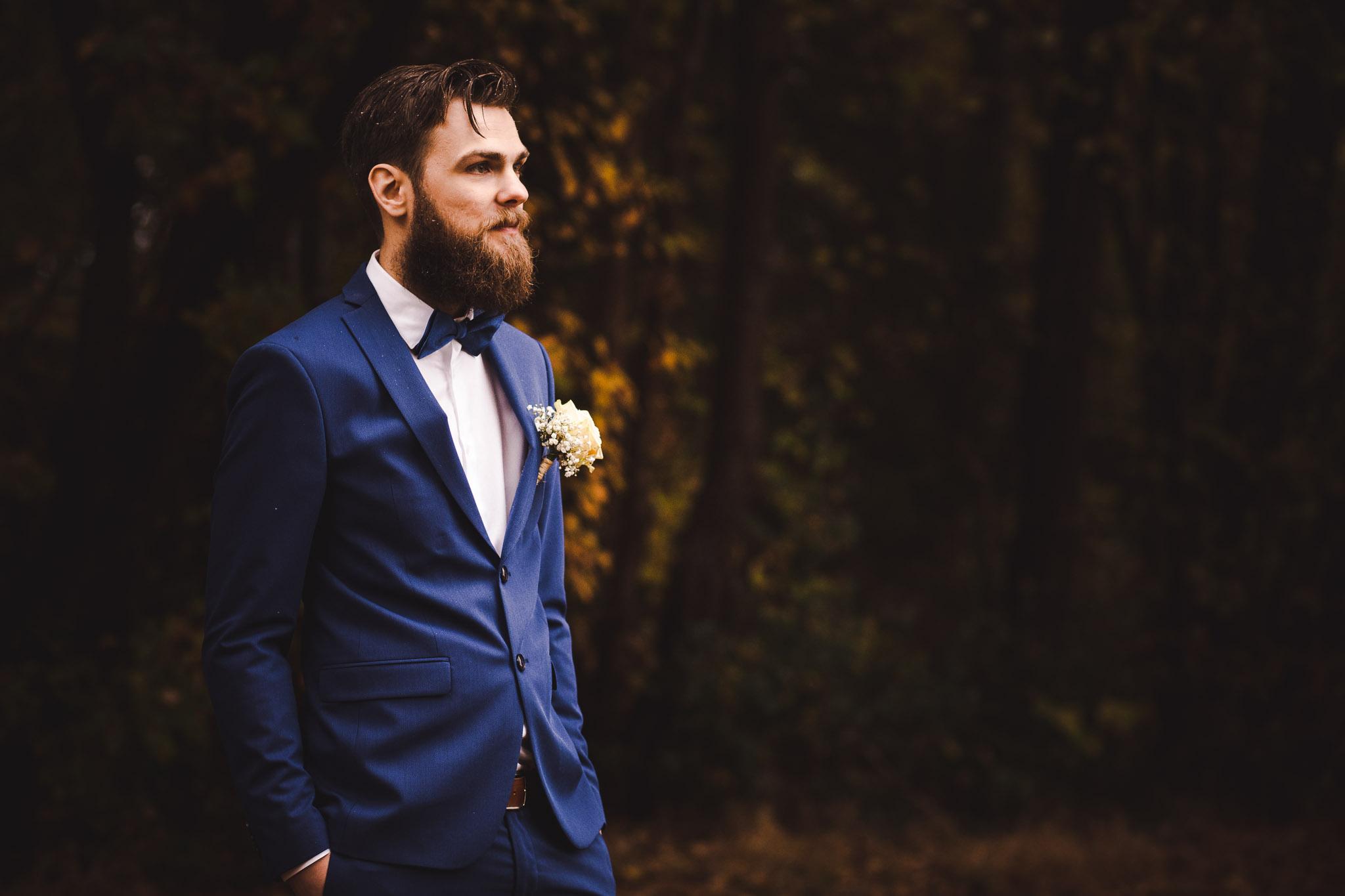 origineel en spontaan portret bruidegom touwreportage