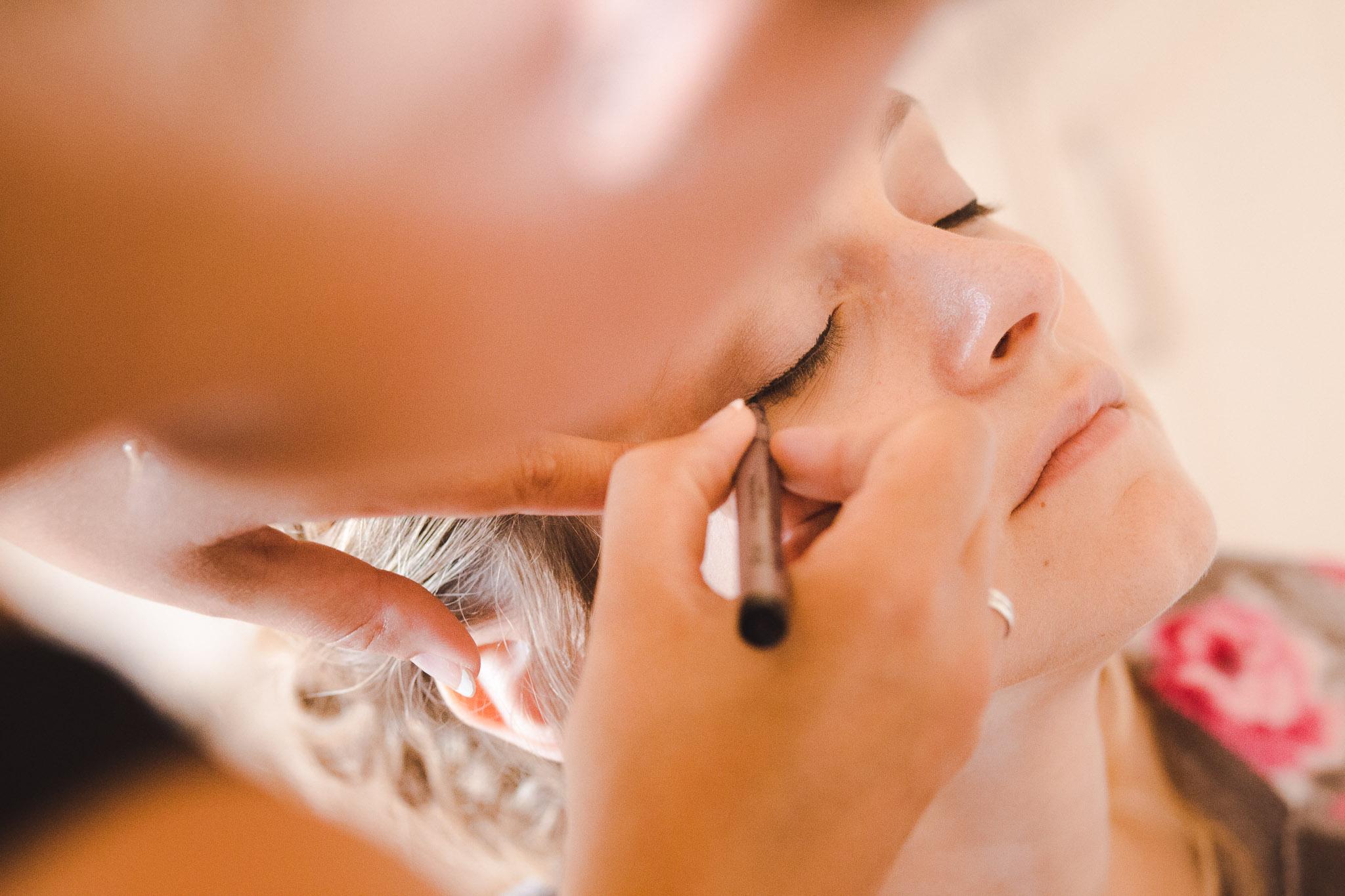trouwfotografie make-up bruid
