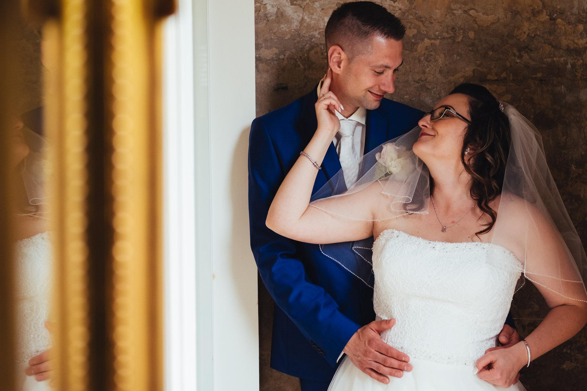bruiloft op landgoed westerlee in groningen met dilek en tim portret bruid en bruidegom