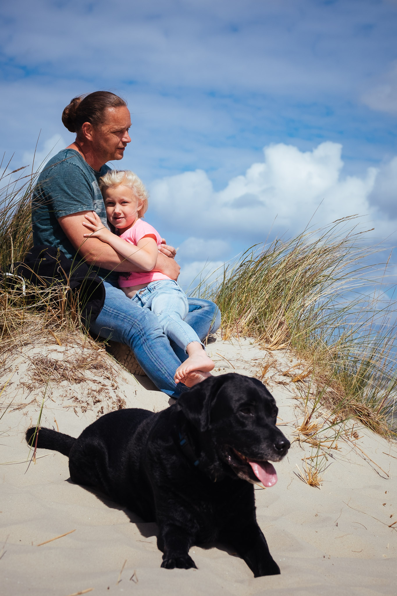 familieshoot samen ameland duinen strand